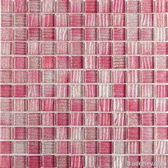 Stripe with glitter crystal glass mosaic STRIPE BLUE