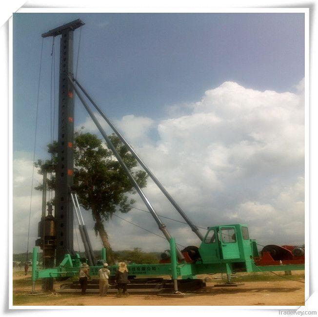 Hydraulic footstep-type diesel hammer pile driver