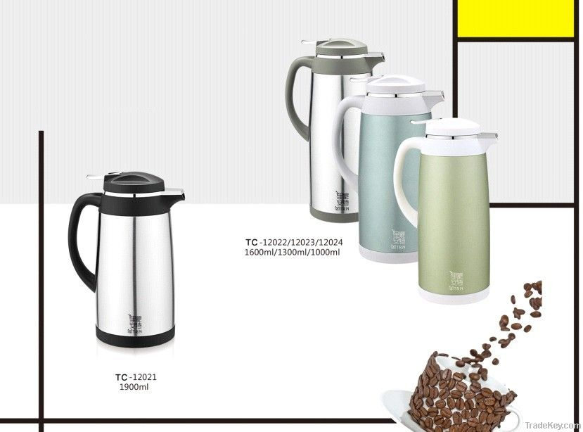 Large stainless vaccum thermos coffee pot /kettle/canteen