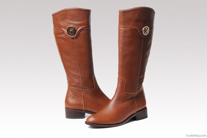TORY BURCH FLAT SHOES REAL LEATHER SHOES BOOTS