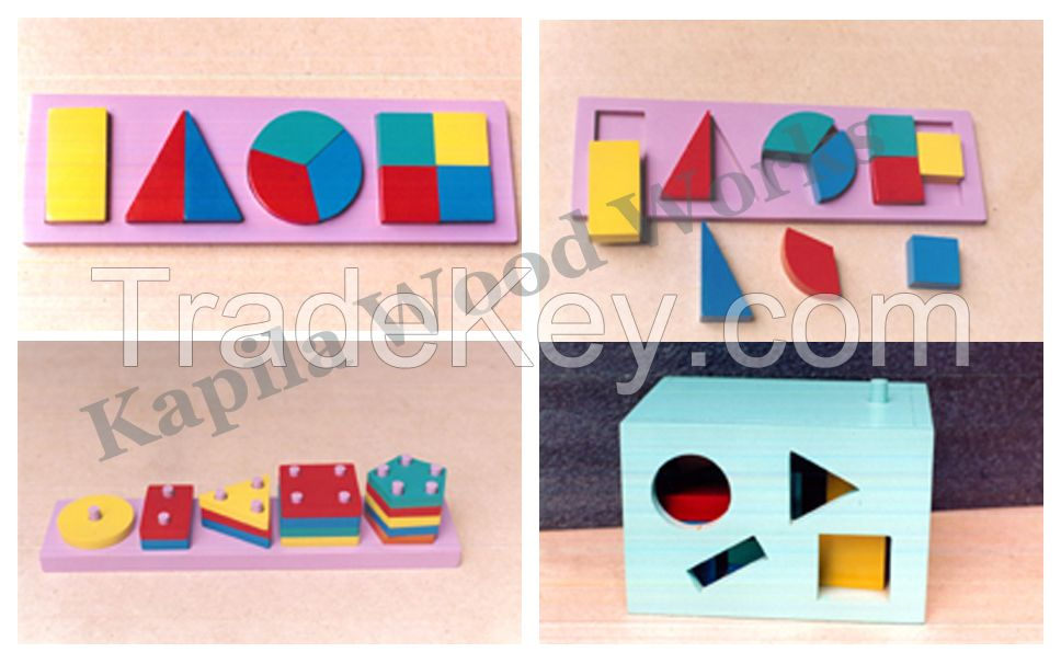 Wooden Geometric Shape Blocks