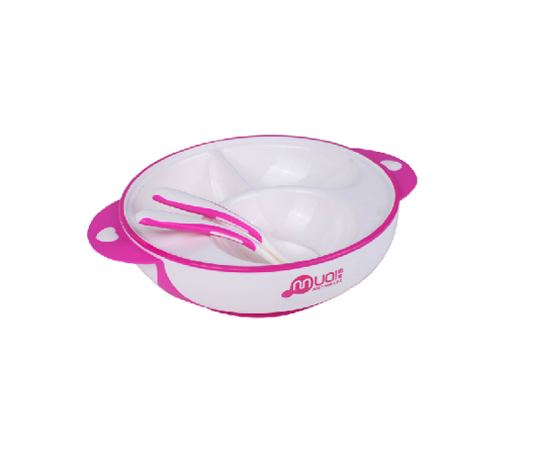 Popular baby suction bowl with spoon and fork set