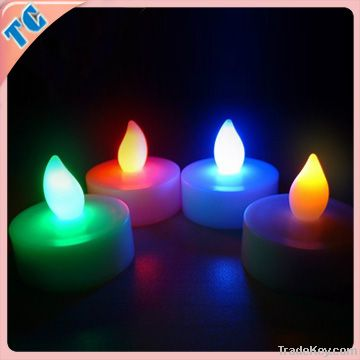 led flashing candles 0.5 dollars red/green/blue/yellow color