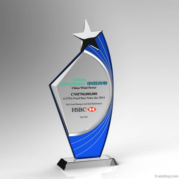 New Design Blank Star K9 Crystal Award