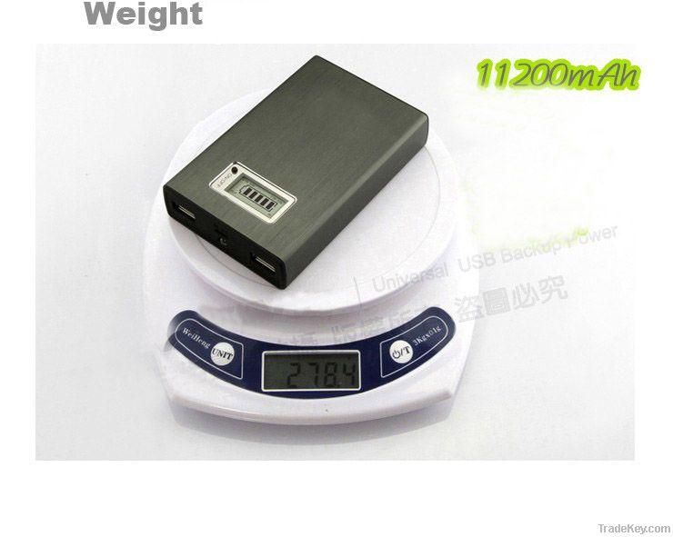 11200 mAh High Capacity Power Bank with Dual USB