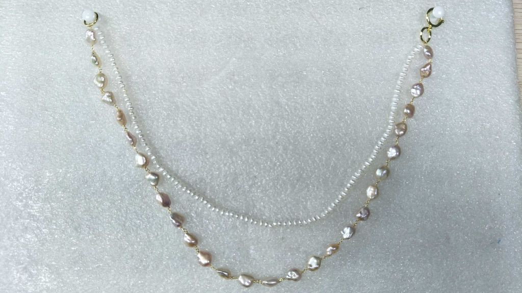 Pearl Double Chain Necklace