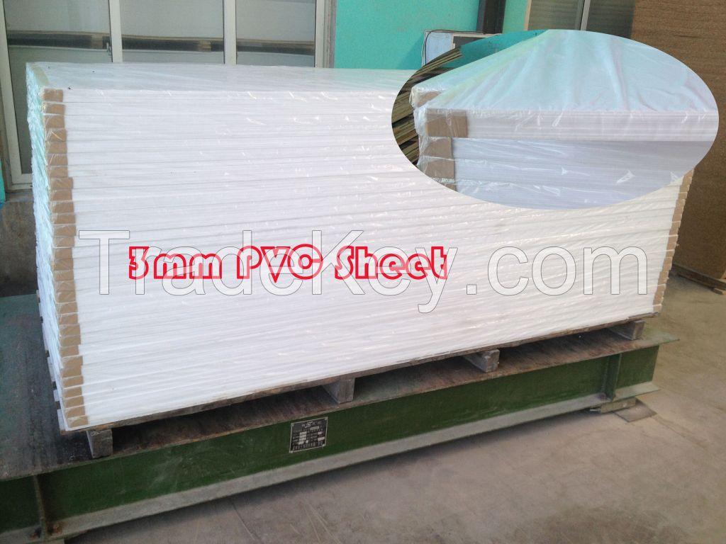 PVC foam board 0.5g/cm3 3mm white free foam sheet