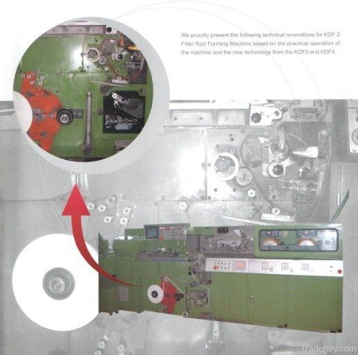 KDF2 filter rod forming machine