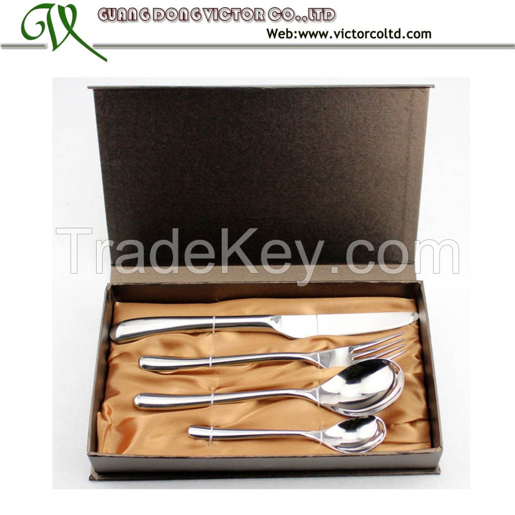 Stainless steel cutlery flatware set