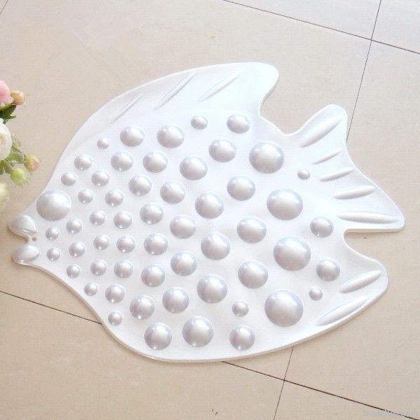 Kids fish pvc bath mat