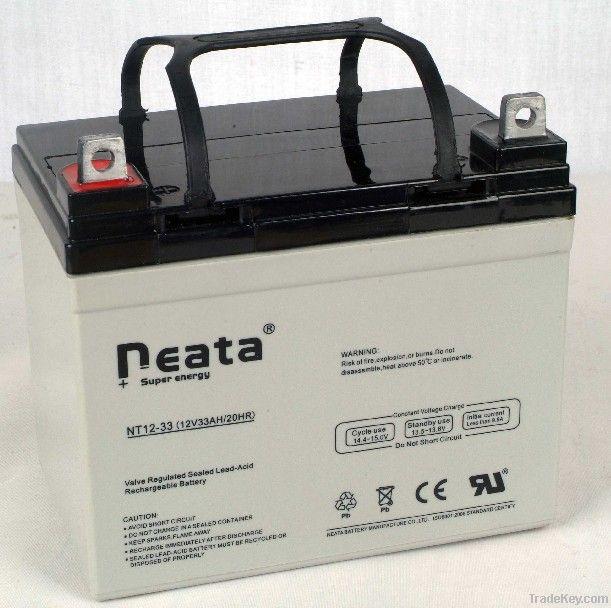UPS Lead Acid Battery 12V-33ah (ISO, CE, UL, RoHS)