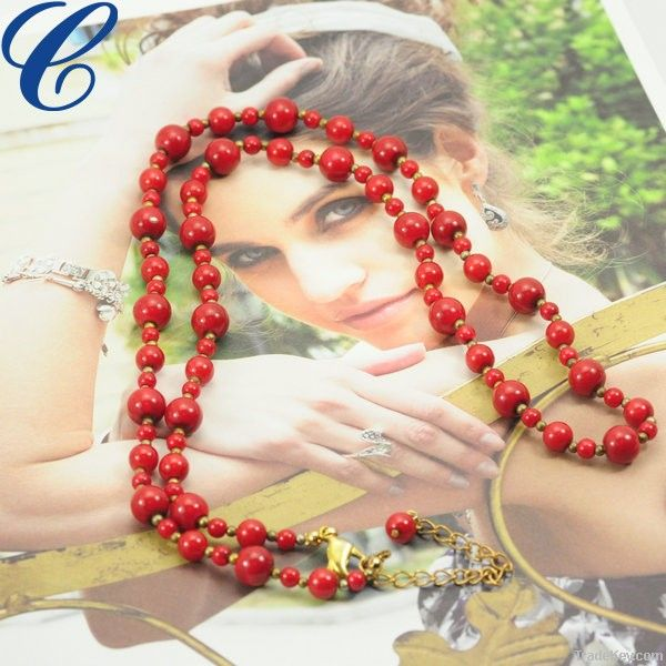 Best selling red vintage pearl necklaces