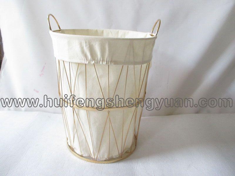 wire wicker storage basket