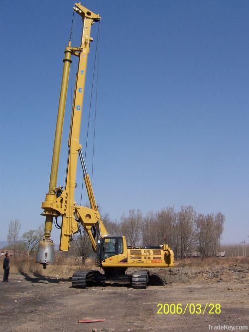 Rotary Drilling Machine Foundation Pile Equipment Original CAT TR220D Rigs