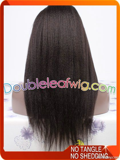 Cheap Kinky straight full lace wig for black women