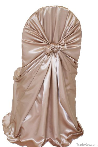 Satin polyester chair cover