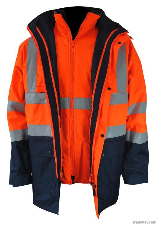 High Visibility Contrast 5 in 1 Jacket