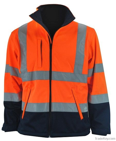 High Visibility Contrast Softshell Jacket