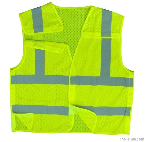 High Visibility 5-point Safety Vest