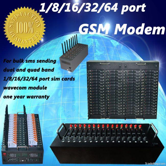 16 ports usb/rj45/rs232 gsm modem for sending and receiving bulk sms