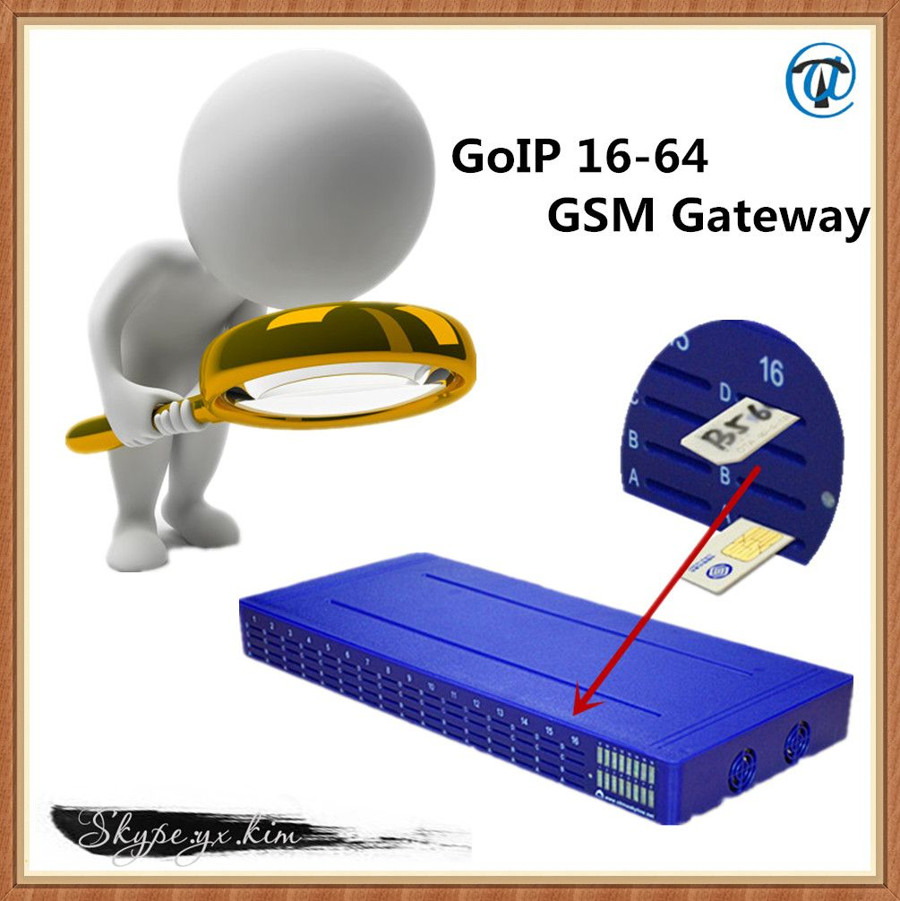 2014 HOT SALE! 16 Channels 64 Cards GoIP GSM Gateway