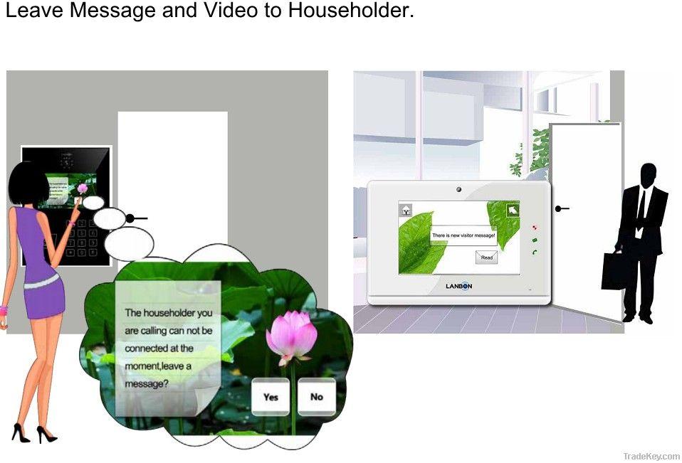 Waterproof video door phone for villa, video intercom system
