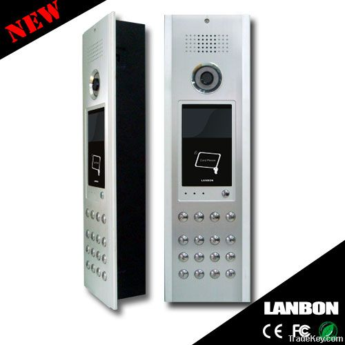 TCP/IP multi keyboard video door phone with home security system
