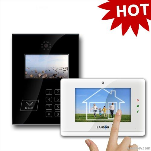 IP/tcp color video door phone for apartment, high-level video intercom