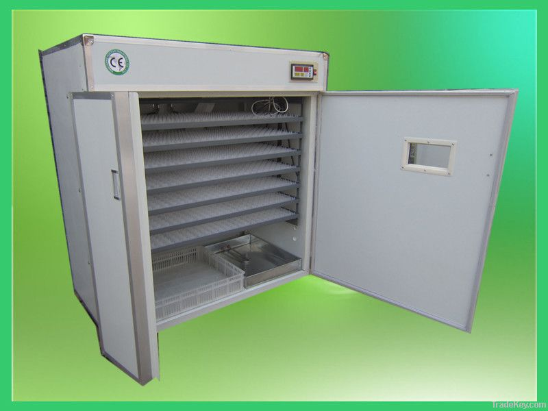450USD Full-automatic chicken egg incubator hatching for 1848 eggs