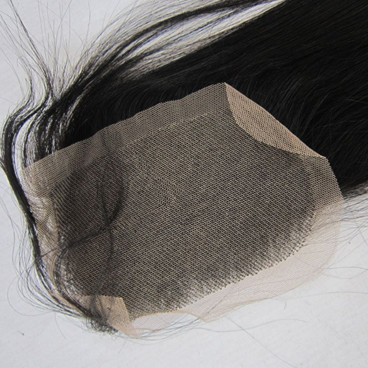 Brazilian Virgin Human Hair (4*4 ) Top Lace Closure Straight Free Part Swiss Lace Or France Lace