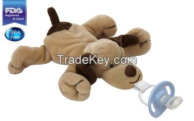 CuddlesMe Pacifier with Detachable Plush DOG
