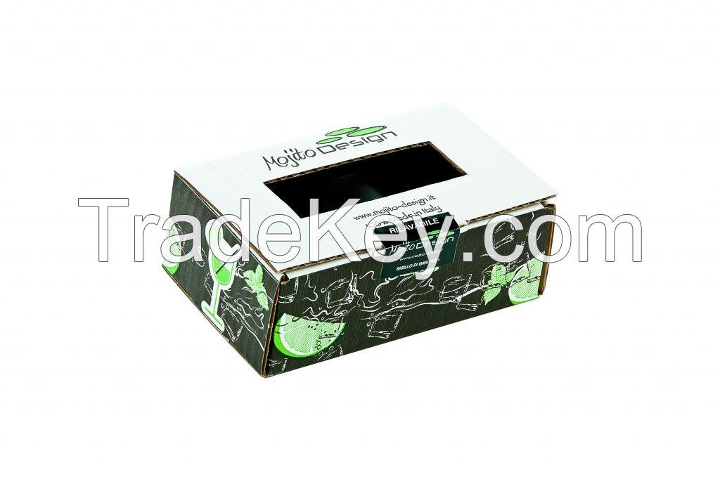 Mojito Design shot glass 6 pieces box 100% Made in Italy