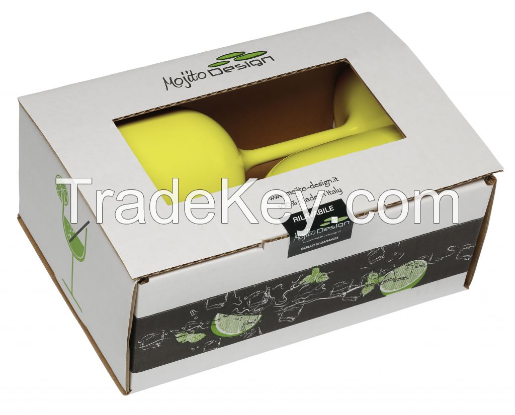 Mojito Design Goblets 2 pieces box 100% Made in Italy