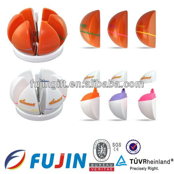 5 in 1 orange shape fluorescent/promotional gift