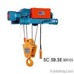 Portable Single speed underlung wire rope hoist 6ton