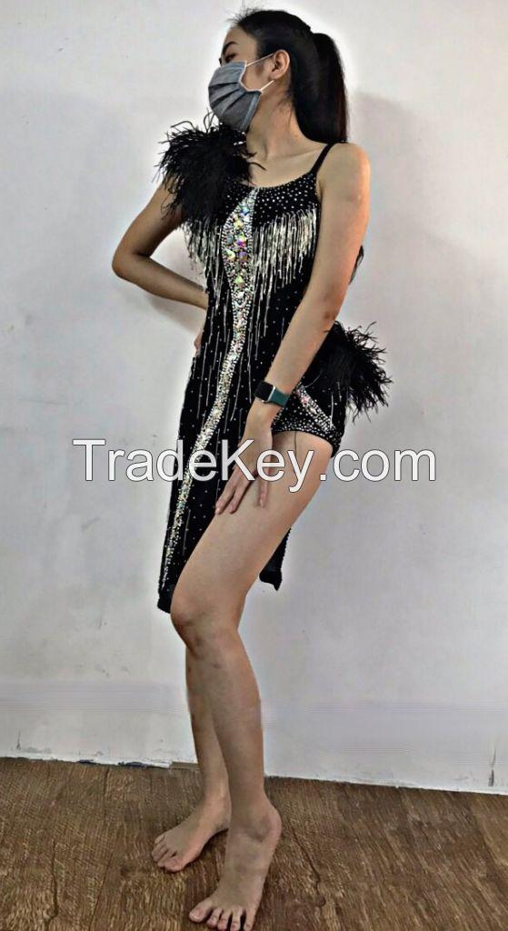 Customized Competition Wear Latin Dance Dress