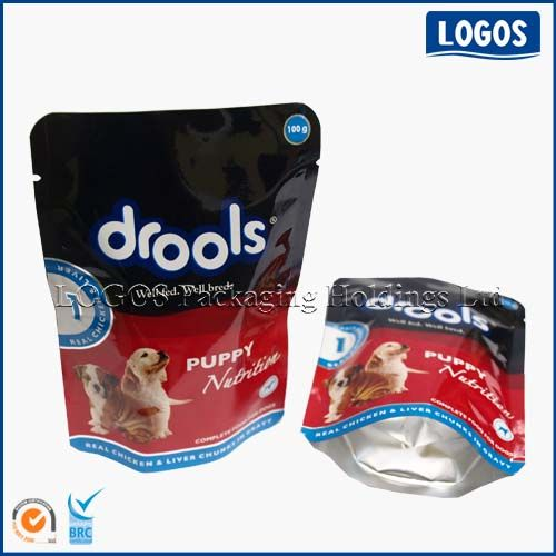Stand Up Retort Pouch For Wet Pet Food Packaging