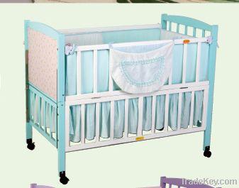 Happy Baby MC602 Pinewood Baby Crib Natural