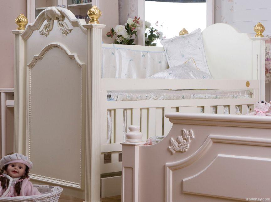 Happy Baby SC1001 Pinewood Europe Style Baby Crib