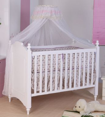 Happy Baby MC623 Pinewood White Baby Bed