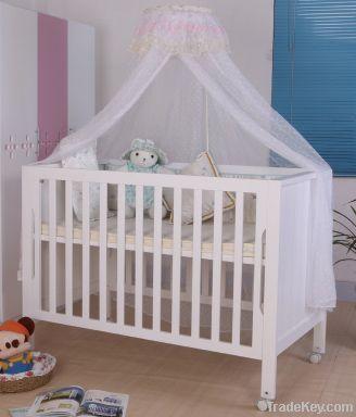 Happy Baby MC618 Pinewood White Baby Bed