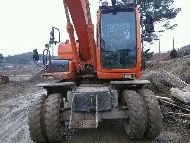 Used Excavator Doosan DX 140 W From Korea Year 2008