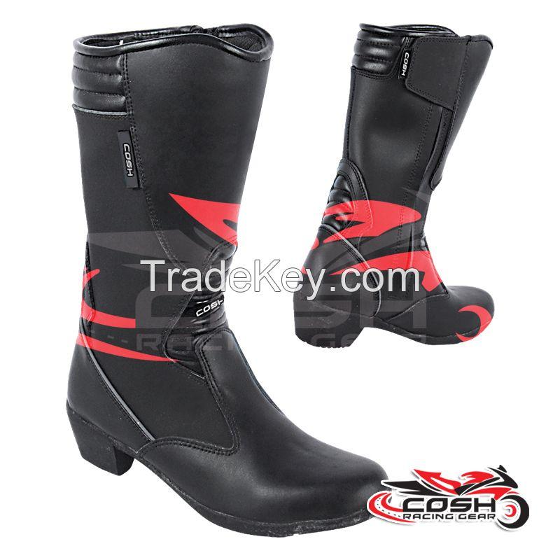 Leather Women Motorbike Boots Supplier