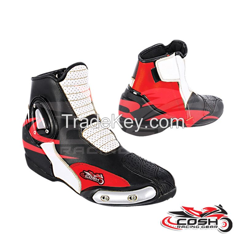 Short Ankle Boots Waterproof Motorcycle Racing Sports Leather Shoes