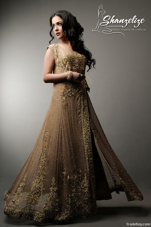 Buy Pakistani Fone Wedding Dress Bridal Online From Shanzelize At