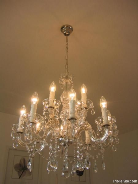 CHANDELIER CRISTAL GLASS MARIA THERESA 12 LIGHTS