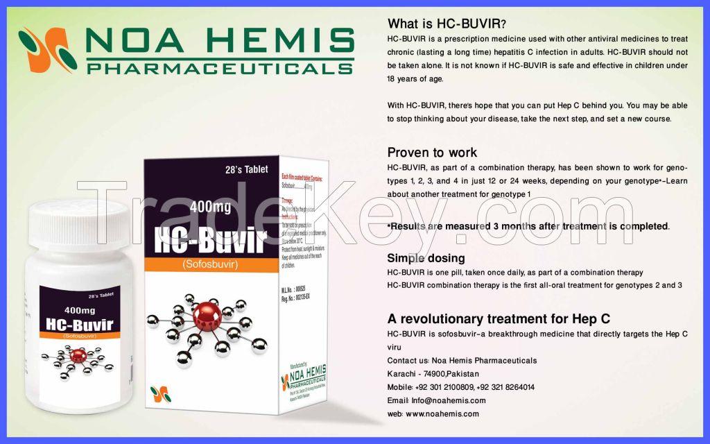 HC-Buvir Tablets (Sofosbuvir 400mg Tablets) Armoni (Sofosbuvir 400mg + Ledipasvir 90mg Tablets