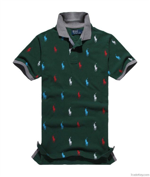 Fashionable  collar business cotton mens knight T-shirt