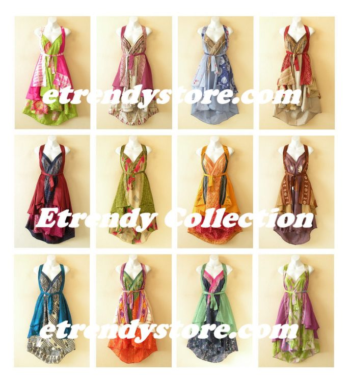 @Hottest Collection@ - Reversible Vintage Silk Magic Wrap Skirts