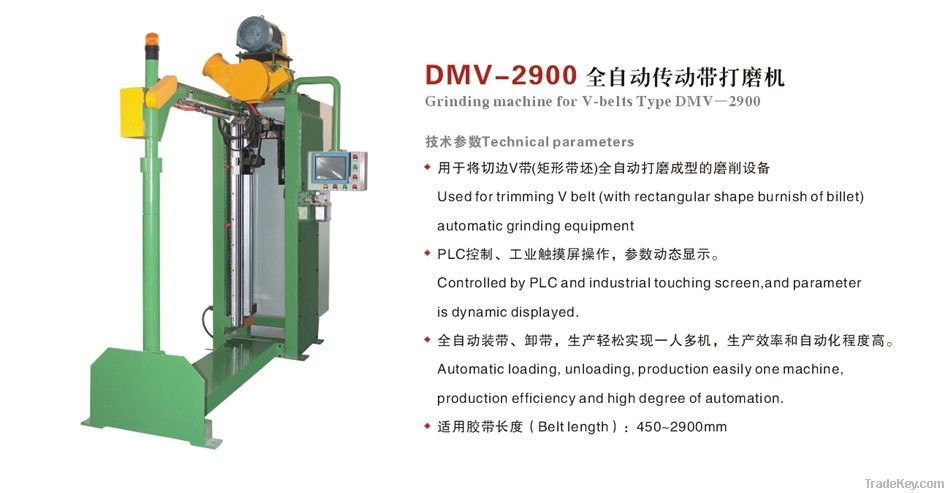 Grinding machine for V-belts